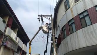 變壓器電桶故障 潭子16戶民宅遭高壓電燒毀電器