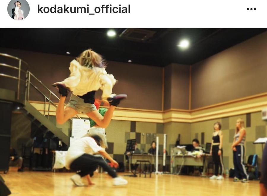 倖田來未超級大跳躍嚇到粉絲。(取材自IG)