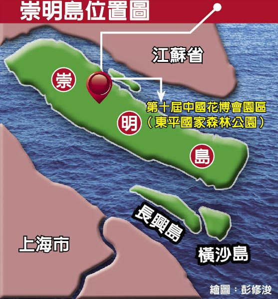 崇明島位置圖
