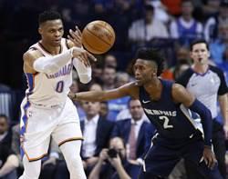 NBA》怒抓20籃板!韋少連兩季場均大三元