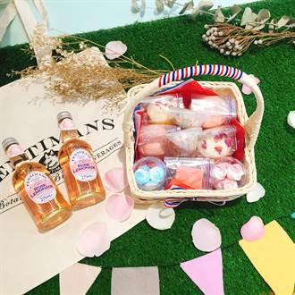 野餐季來臨!懶人必備網美拍照神器「粉嫩法式花朵野餐籃」
