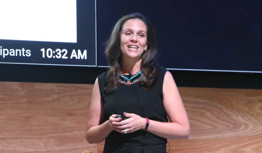 Google 亞太區市場策略與行銷董事總經理 Melanie Silva。(圖/黃慧雯攝)