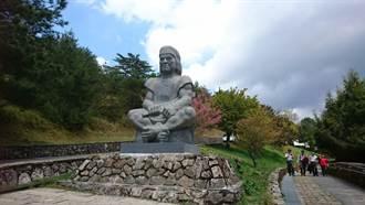 玉山下布農勇士石雕  塔塔加遊憩區新地標