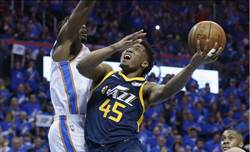 NBA》爵士菜鳥米契爾季後賽首秀超越詹皇