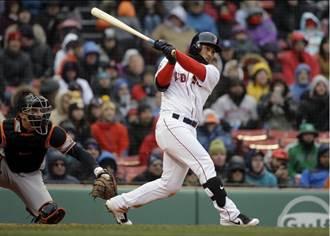 MLB》林子偉敲安串連得分大局 紅襪橫掃勇士