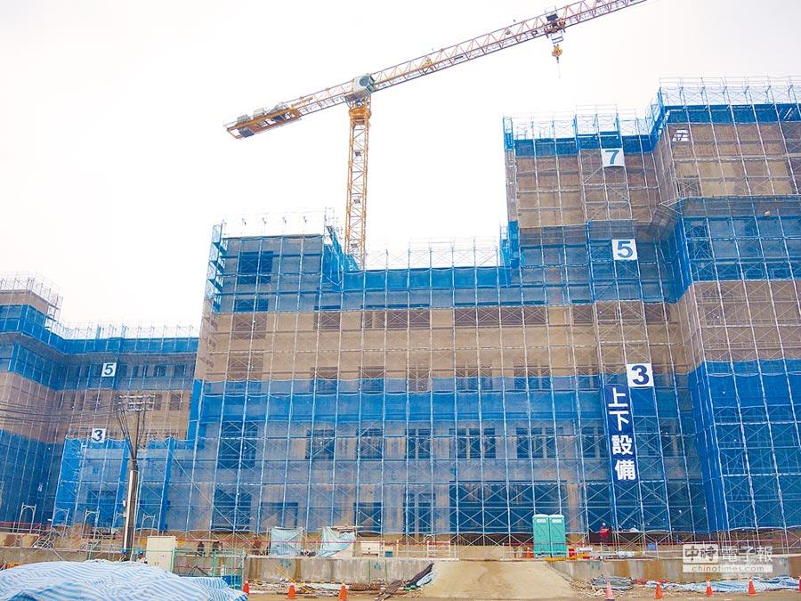 台大生醫園區分院建設進度超前,預計在2020年可投入營運,解決竹竹苗無大型醫院的困境。(本報資料照片)