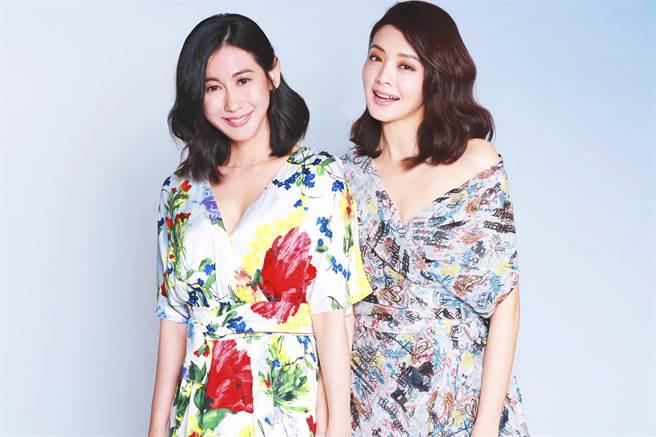 林利霏、夏如芝為伊林品牌「Quame閨蜜瑰蜜」新品「伊萊恩養髮系列」擔任形象大使。(伊林娛樂提供)