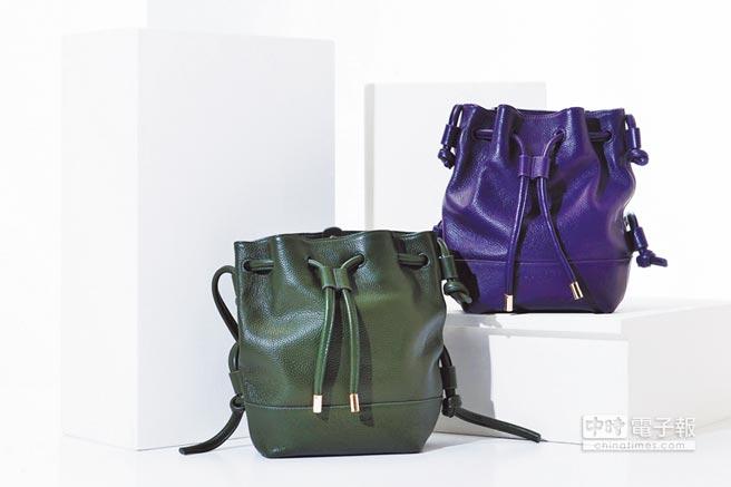台灣本土女包品牌aBoutmi,祭出多款兼具優雅外觀與實用收納性質的精選包款,其中還包括近期流行的水桶包型。(aBoutmi提供)