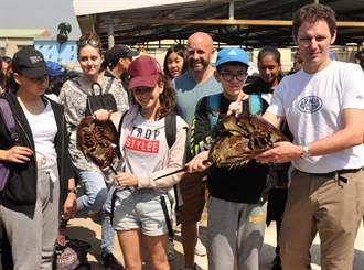 法國學生到金門看鱟 直說:「驚奇之旅」