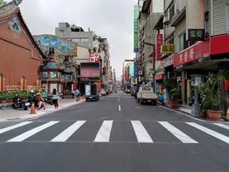 中區萬春宮地磚破損  市府依路平標準改鋪瀝青完成