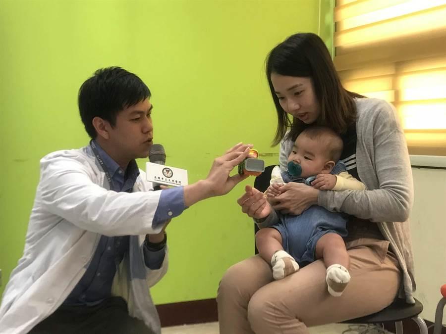 大同醫院推出「新手爸媽學院」,解決嬰兒哭鬧、發燒急症、開發兒童發展潛能等疑難雜症。(柯宗緯攝)