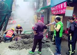 台中大里施工挖破瓦斯管外洩 住戶心驚驚