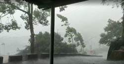 午後對流雲系旺盛 嘉縣中埔鄉下冰雹