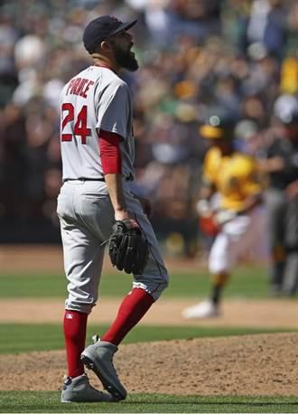MLB》紅襪又輸運動家 林子偉連2場打擊槓龜