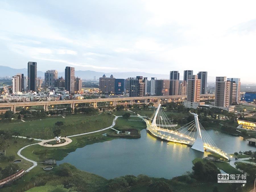 中壢青塘園受惠鄰近機場捷運A19站、景觀,崛起桃園市高指名度公園宅。圖/台灣房屋提供