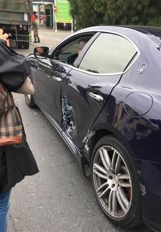 軍用卡車與瑪莎拉蒂跑車擦撞 「目屎那滴」引發熱議