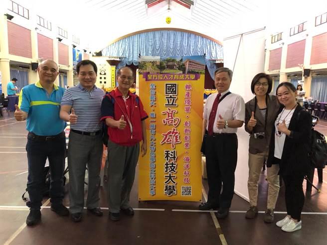 高科大代表參加東馬古晉中華第一中學教育展。(高科大提供)