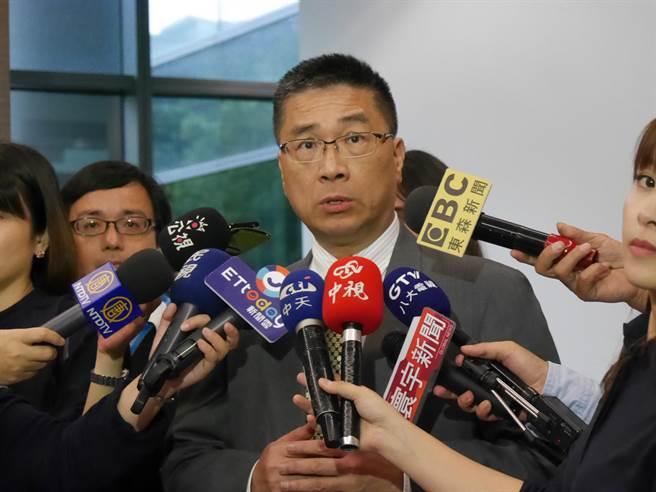 行政院發言人徐國勇自2016年10月上任以來,爭議發言不斷,屢屢登上新聞版面。(蔡依珍攝)