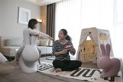 親子旅客看過來!入住飯店主題房型 免費Qeeboo奇寶兔椅帶回家