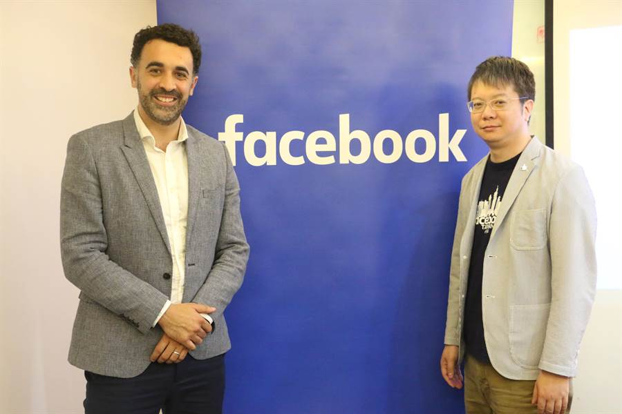Facebook亞太區Public Policy Manager for Content的Simon Harari(左)與Facebook香港及台灣公共政策總監陳澍(George Chen)。(圖/黃慧雯攝)