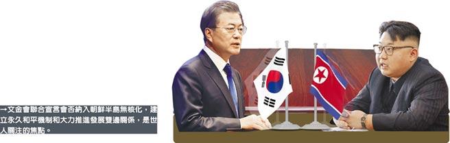 文金會聯合宣言會否納入朝鮮半島無核化,建立永久和平機制和大力推進發展雙邊關係,是世人關注的焦點。
