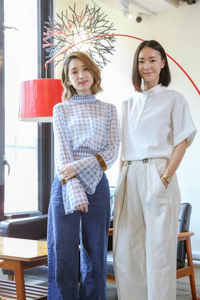 柯佳嬿(左)和鍾瑶共演《市長夫人的秘密》。(攝影記者 蘇蔓)