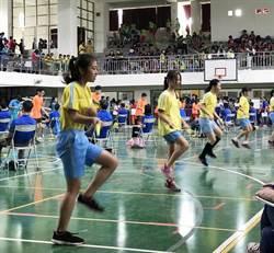 台中市國小跳繩決賽 1800名學生同場較勁
