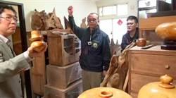 珍貴林木變藝品銷大陸 警查獲百萬「發財豬」