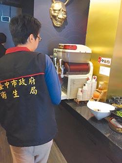 中市餐飲業稽查 28%不合格