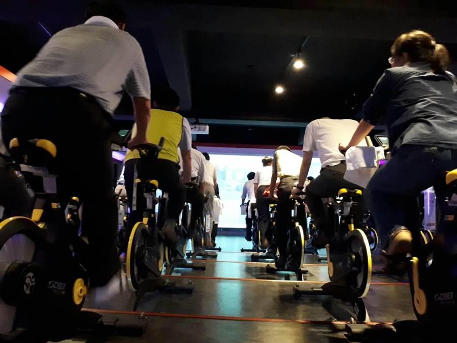 輔英科大剛完成設置全台最大的專業飛輪健身坊。(校方提供)