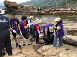 官方、民間潮境公園攜手淨灘  撿拾164斤垃圾