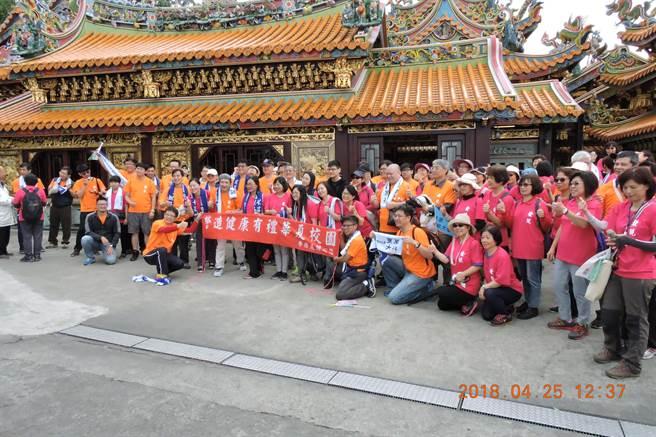 華夏科技大學舉辦「烘爐塞山,南勢走讀」。(葉書宏翻攝)