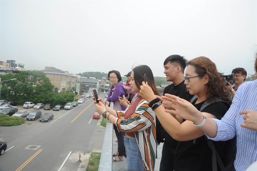 稻田彩繪吸引遊客觀賞拍照、打卡。(陳慶居攝)