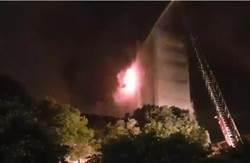 燒了24小時 敬鵬廠房又竄出火苗