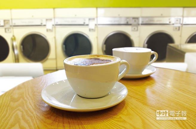咖啡邂逅香港洗衣店圖/美聯社、路透(註:此為影像合成示意圖)