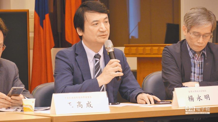台大政治系兼任教授、前國安會副祕書長楊永明。(記者潘維庭攝)