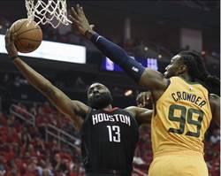 NBA》大鬍子7顆三分球 火箭首戰宰爵士
