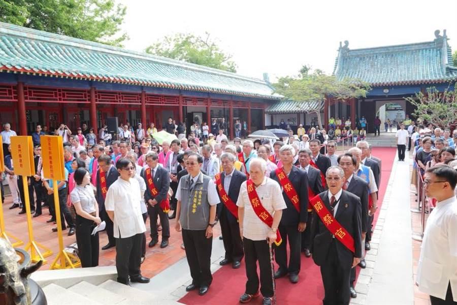 鄭成功中樞祭典昨天在台南舉辦。(圖/李孟諺臉書)