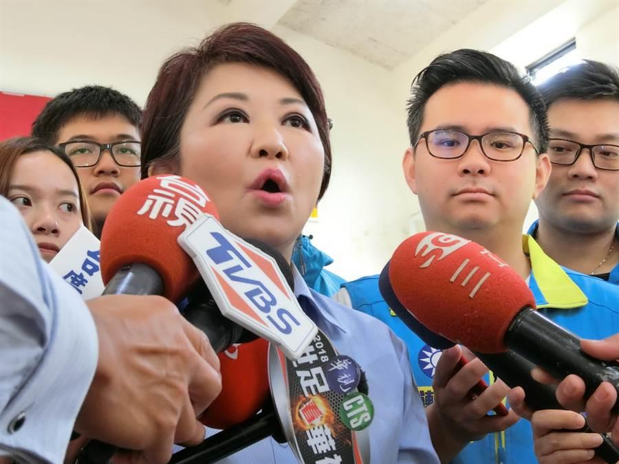 立委盧秀燕強調,她除支持管中閔,也呼籲新任教育部長趕快下台,不要再丟人現眼了。(盧金足攝)
