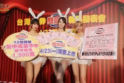 台彩新推「雙贏彩」 頭獎今晚首開 基隆一注獨得1500萬
