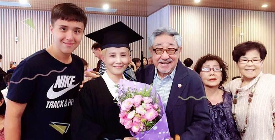 孫越和李明依。(取自臉書)