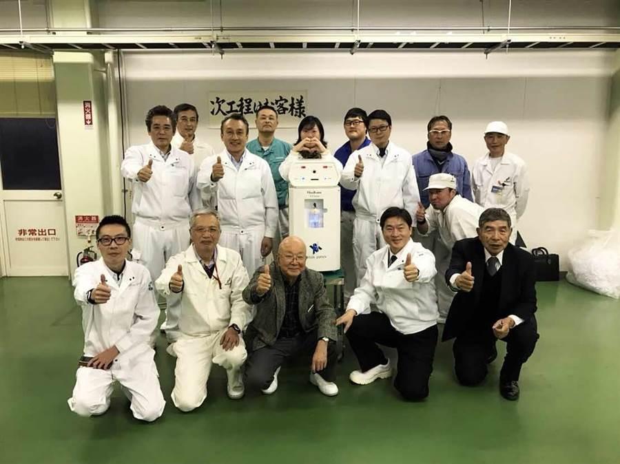 日本知名企業Helix JP有澤會長不惜跨海以5億日幣天價取得「友荃科技」的技術授權生產氫美氧生機。(友荃提供)