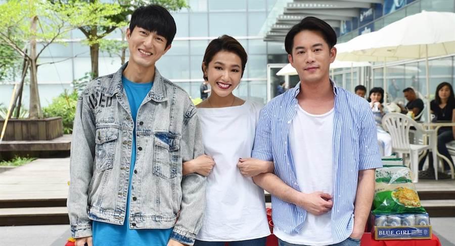 Junior(右起)、林意箴、邱昊奇。(緯來提供)