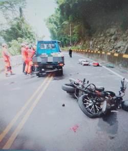 中橫公路死亡車禍! 重機、小貨車對撞 1死1命危