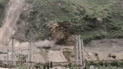影〉四川樂山大規模山體滑坡 垮方量約5萬立方米