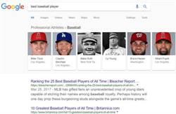 MLB》最強的棒球員是誰?谷歌一張圖秒懂