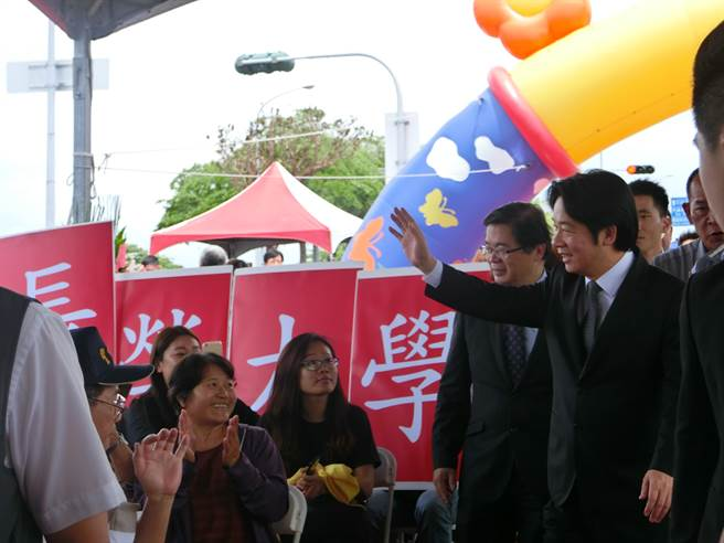 行政院長賴清德今天到台南出席大台南會展中心動土。(曹婷婷攝)
