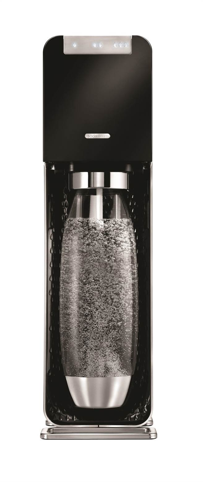 Sodastream另推出「Power Source 黑」旗艦新機,6990元。(Sodastream提供)