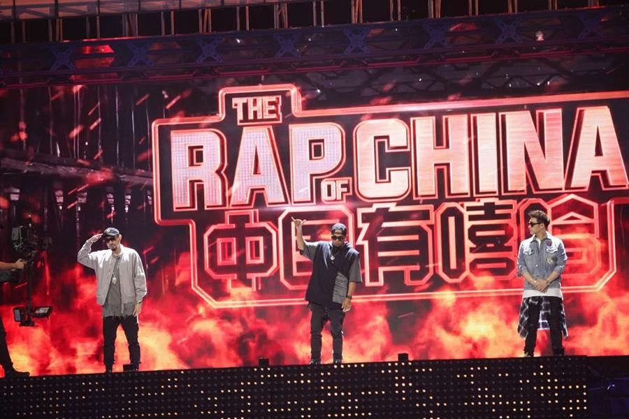 《中國有嘻哈》明星導師登場。(圖片提供:TVBS)