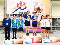 全國大專校院運動會  龍華科大女子羽球雙打勇奪亞軍
